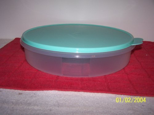 Tupperware Round Pie & Pastry Container Mint Ice Cream (Tupperware Pie Carrier compare prices)