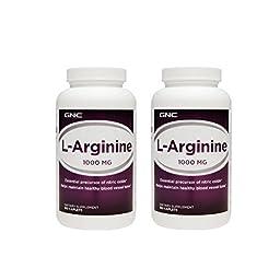 GNC L-Arginine 1000mg 180 Caplets (Two Bottles each of 180 Caplets)