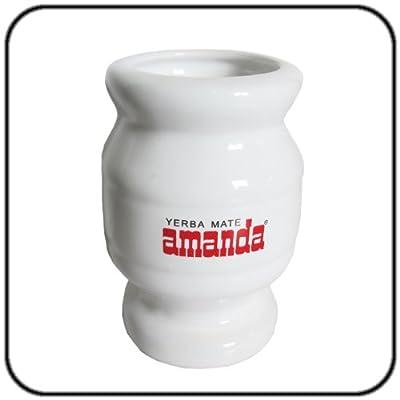 Mate Tee Set Amanda Keramik - 500g Tee mit Mate Becher und Trinkhalm (Bombilla) von Amanda auf Gewürze Shop
