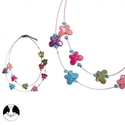 sg paris kid necklace necklace 2 rows 40/35cm+ext multicolor plastic