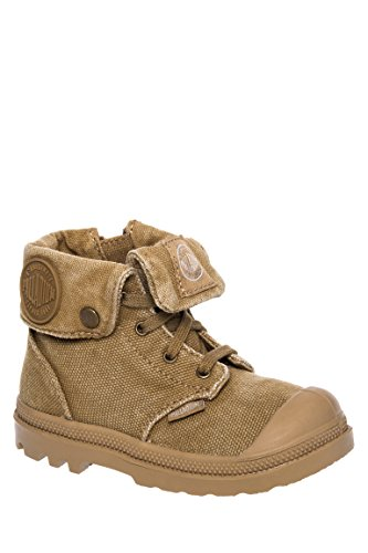 Kid's Baggy Zipper Lace-Up Combat Boot