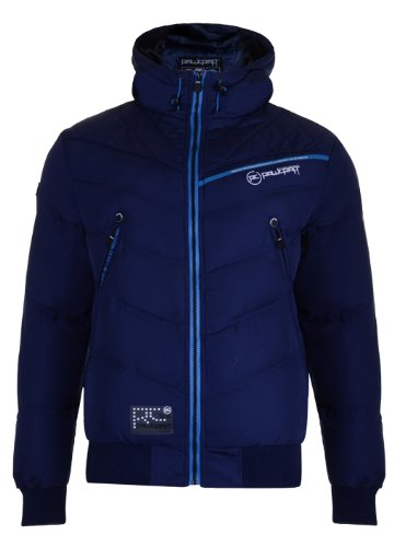 Mens 'Raw Craft' Padded Jacket Wth Hood & Stitch Detail. Style Name - Lucas (C601193C). In Navy Size - Small