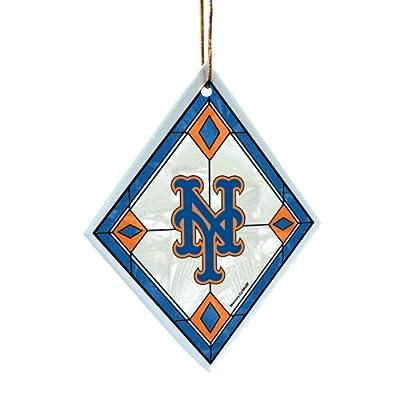 MLB New York Mets Art Glass Ornament