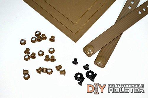 Kydex Holster Diy Kit W/ Iwb Soft Loops, Coyote Brown
