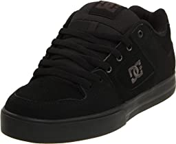 DC Men\'s Pure Skate Shoe, Black/Pirate Black, 9 M US