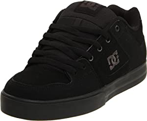 DC Men's Pure Skate Shoe,Black/Pirate Black,11 M US