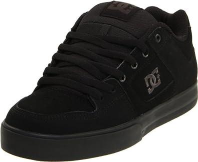 DC Men's Pure Skate Shoe,Black/Pirate Black,5 M US