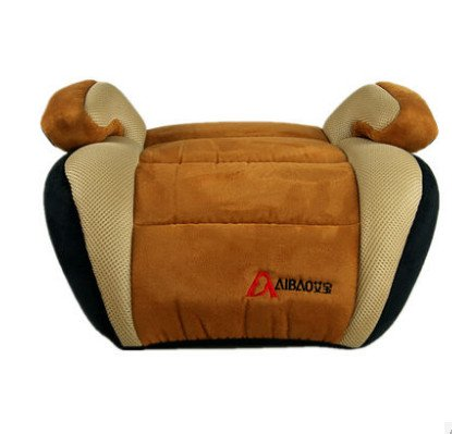 Aibao-Yb803 Children Car Backless Turbobooster Safety Seat Heighten, Brown(Black) front-901257