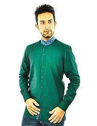 Feed Up Green Smart Band Collar Shirt