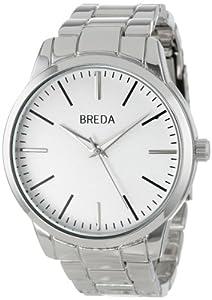 Breda Men'S 1636-Silver/White Grant Classic Metal Watch