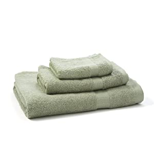 pure fiber 3 piece viscose from bamboo bath towel set sage green home kitchen. Black Bedroom Furniture Sets. Home Design Ideas