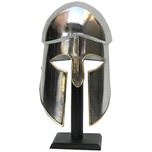 [Handtooled Handcrafted Greek Corinthian Armor Helmet] (Authentic Stormtrooper Costume For Sale)