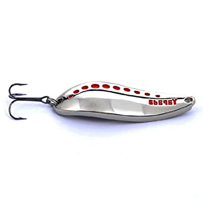 Hisea Long Casting Metal Spoons Spinnerbaits Bleeding Shad Nice Action Hard Spinner Fishing Lures for Bass & Walleye