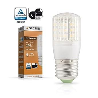 SEBSON E27 LED Lampe 3W 240lm (Ersetzt 25W) [Warm-Weiß - SMD LED Leuchtmittel - 360° Abstrahlwinkel] (ehemals 210lm)