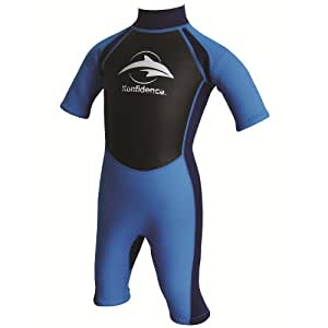 Konfidence Boys Shorty Wetsuit Navy/Blue 7 to 8 Years