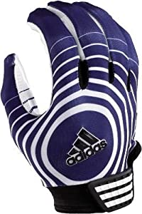 Adidas Supercharge Adult Football Receiver Gloves - Navy/White-M