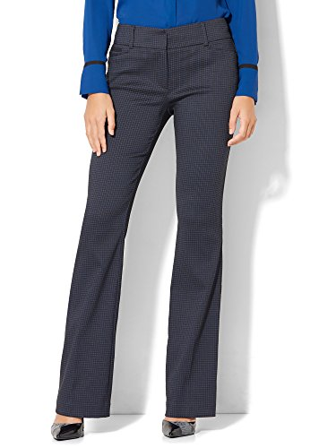 New York & Co. Women's Bootcut - Houndstooth 20 Blue Comfort (New York And Company Shoes compare prices)