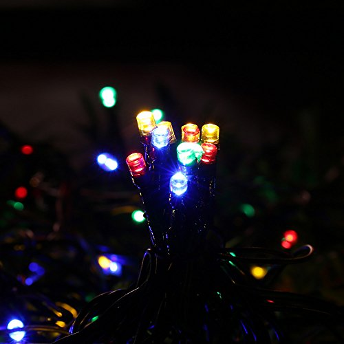 Christmas Novelty Lights Outdoor : lederTEK Decorative Solar Christmas Lights Multi-color 200 LED 8 Modes Novelty Fairy String ...