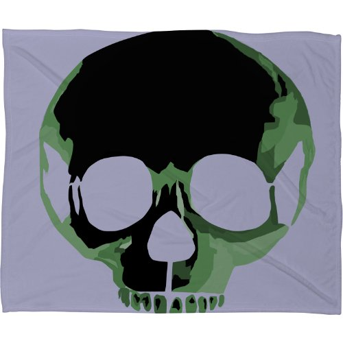 Skull Throw Blanket back-1070344