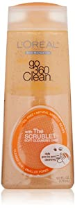 L'Oreal Paris Go 360 Clean, Deep Exfoliating Scrub,Natural Apricot Beads, 6-Fluid Ounce