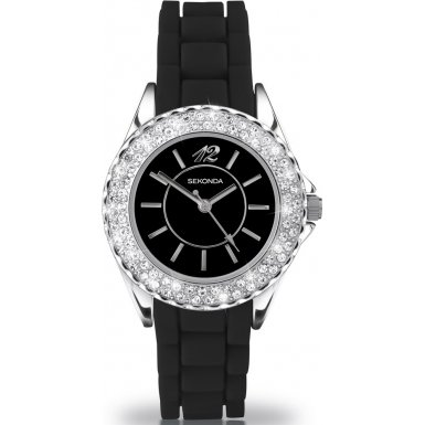 Party Time by Sekonda 4305.27 'Moonlight' Ladies Black Fashion Watch