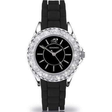 Party Time by Sekonda 4305.27 'Moonlight' Ladies Black Fashion Watch