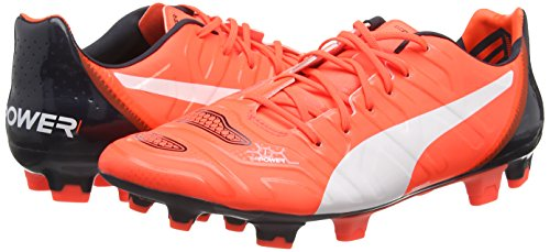 Puma evoPOWER 1.2 FG, Herren Fußballschuhe, Orange (lava blast-white-total eclipse 08), 40 EU (6.5 Herren UK) -