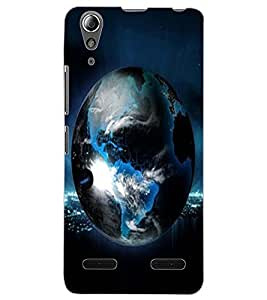 ColourCraft Earth Design Back Case Cover for LENOVO A6000