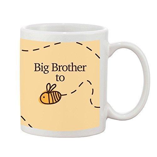 Big Brother to be Tasse Baby Neuheit Geschenk Steingut 284ml Kaffee Tee Tasse Bumble Bee Design
