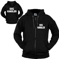 DOG HANDLER ZIP HOODIE Premium Unisex Mens Womens Ladies hoody - Workwear Work Wear Uniform Trainer Puppy Hound K9 Gift Slogan Staff Kit Present S M L XL 2XL - by Fonfella
