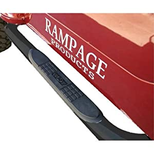 Rampage R8627 Body Side Guards With Step BLACK Powder Coat For 2007-10 Jeep Wrangler JK 2 Door