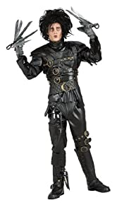Edward Scissorhands Costume, Black, Standard