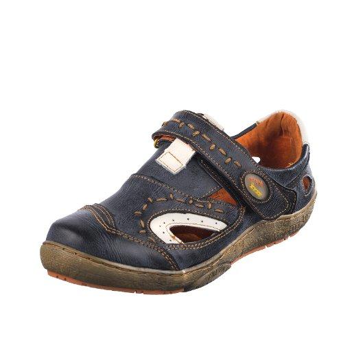 TMA EYES 1370 Klettschuh Gr.36-42 mit bequemen perforiertem Fußbett , Leder super Schuh der neuen Saison. ATMUNGSAKTIV in Schwarz Gr. 36