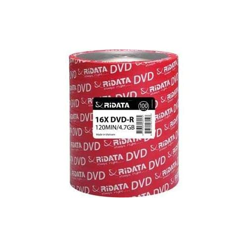 100-Pack RiDATA 4.7GB 16X DVD-R Blank Media Spindle Disc