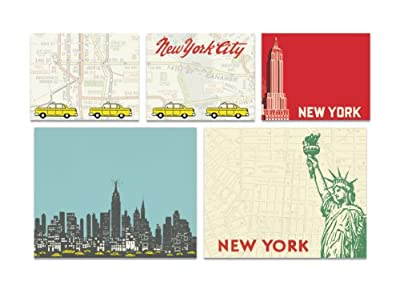 Cavallini Papers Sticky Notes, New York, Set of 5