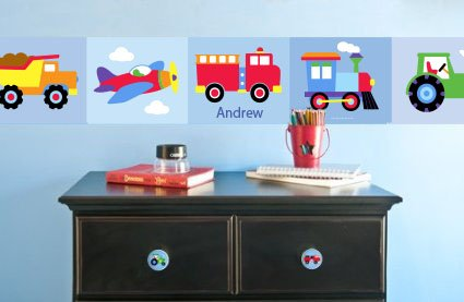 Trains, Planes & Trucks Personalized Wall Border By Olive Kids (Truck Border compare prices)