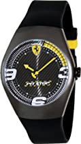 Ferrari Carbon F1 PitStop Watch - Yellow Dial