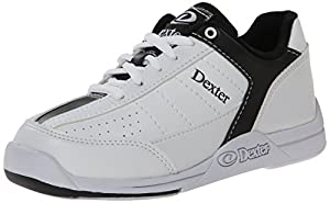Dexter Men's Dexter Ricky III Bowling Shoes - White/Black, Size 1