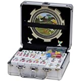 Double 12 Numeral Tiles 2-in-1 Mexican Train Set in Alum Case