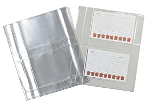 Meadowsweet Kitchens Plastic Recipe Card Protectors for 3 ring binders, 15 Sheets