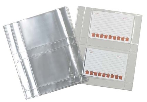 Meadowsweet-Kitchens-Plastic-Recipe-Card-Protectors-for-3-ring-binders-15-Sheets