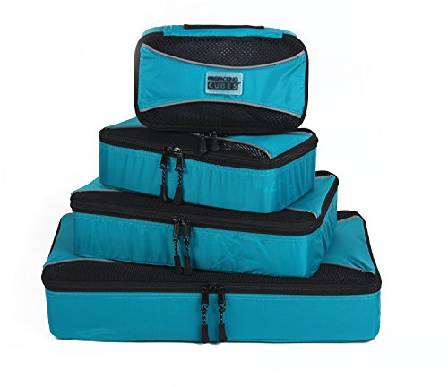 PRO Packing Cubes   4 Pc Travel Organizers   Luggage Compression & Cube Value Set