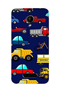 ZAPCASE PRINTED BACK COVER FOR MICROMAX BOLT Q332 Multicolor