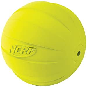 Nerf Dog Squeaker Ball, Green