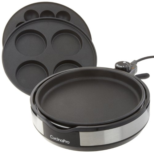 Multi Baker Deluxe by CucinaPro with Three Interchangeable Skillet Plates for Grilling, Baking, or Dessert Making (Imagawayaki Pan compare prices)
