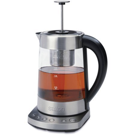 Salton VitaPro Kettle and Tea Steeper, 360-degree cordless base for left or right hand use (Vitara Tea Kettle compare prices)