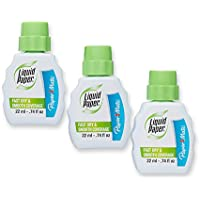 Paper Mate Liquid Paper Fast Dry Correction Fluid, 22 mL, 3 Count