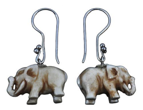 Elephant Earings Organic Jewelry of Bali