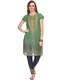 Haute Curry By Shoppers Stop Womens Printed Kurta And Pant Set
