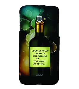 PrintVisa Quotes & Messages Funny Romantic Love 3D Hard Polycarbonate Designer Back Case Cover for Infocus M350